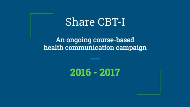 Share CBT-I and other GMU pilots