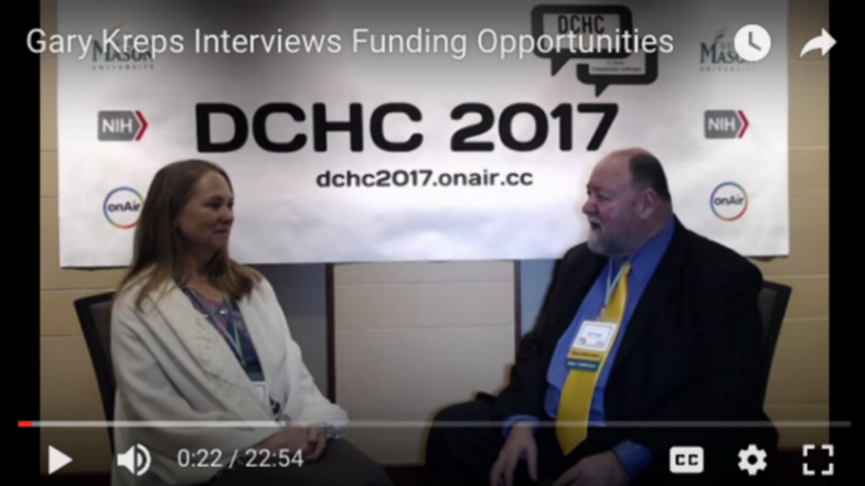 Gary Kreps interviews NIH representatives