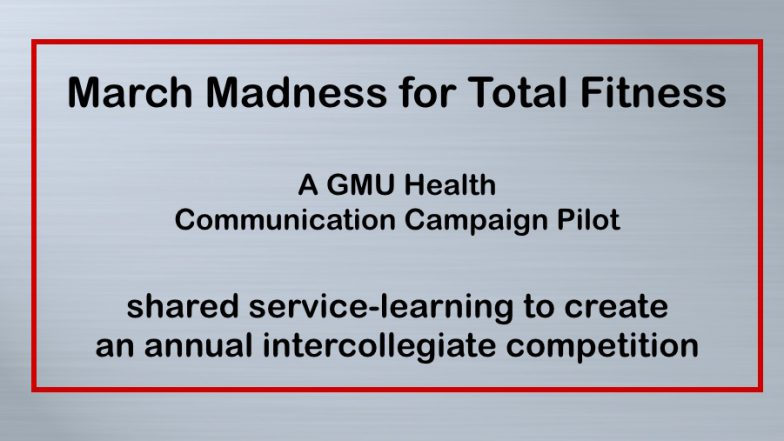 Pilot:  March Madness for Total Fitness 9